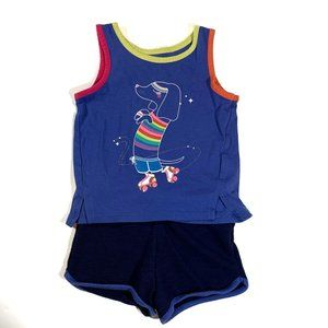 Cat & Jacket Rainbow Dog Tank Top & Shorts Size 18